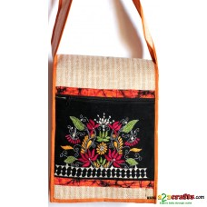 Jute Bag , Hand stiched-