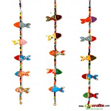 Rajasthani Kopa Dolls, Fish, Multi colour