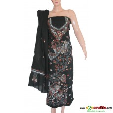 Hand Stitched (Kantha/ Santiniketan)- Cotton  Ladies Dress Material
