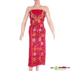 Hand Stitched - Cotton  Ladies Dress Material
