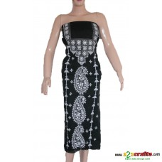 Hand Stitched( AARI work) - Cotton  Ladies Dress Material