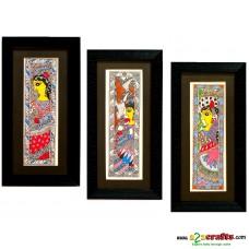 Madhubani, hand painting, Exclusive set of 2