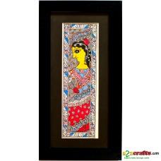 Madhubani, hand painting,lady