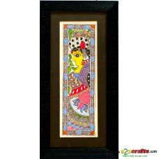 Madhubani, hand painting, Lady