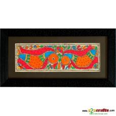 Madhubani, hand painting,Bird- Kabutar