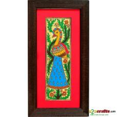 Madhubani, hand painting, Peacock