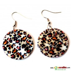 Printed on sea shell Earring