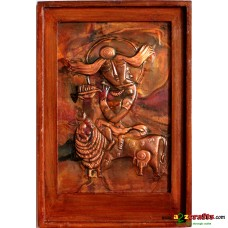 Copper Repousse - Abstract Krishna