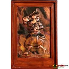 Copper Repousse - Tribal musician boy
