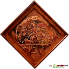 Copper Repousse - Goddess Durga with family