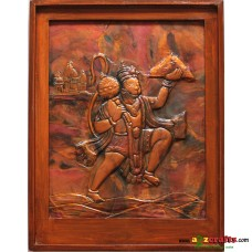 Copper Repousse Big - God Hanuman