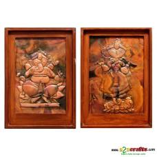Copper Repousse -Radha Krishna