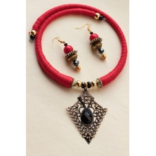 Costume jewelry 3pc set red elegant