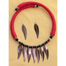 Costume jewelry 3pc set --- Leaf