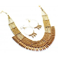 Costume jewelry 3pc set ,tribal heavy Golden