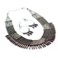Costume jewelry 3pc set ,tribal heavy Black