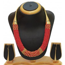 Costume jewelry necklace set, Red