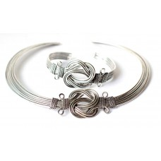 Exclusive Artificial jewelry with bangle , silver