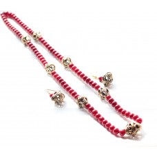 Dokra Jewellery set ,original, Red
