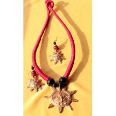 Dokra Jewellery set ,original, MAROON