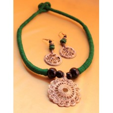 Dokra Jewellery set ,original, GREEN