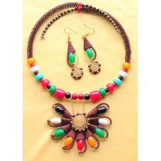 Copper jewelry set. Exclusive design