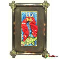 Wall Décor fiber Shiv Durga Abstract Art