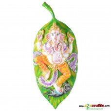 Leaf Ganesh Wall Hanging Show Piece