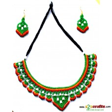 Jute  jewelry - 3 piece necklace set with earring