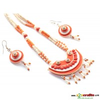 Jute Jewelry- 3 piece necklace set with earring