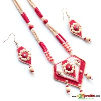 Jute & Paddy Jewelry -Red