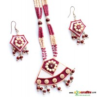 Jute & Paddy Jewelry- Maroon