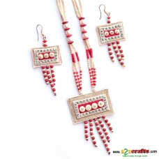 Jute & Paddy jewelry- Red