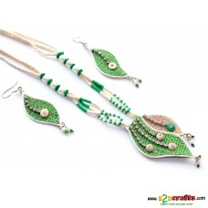 Jute & Paddy jewelry -green