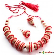 Jute Jewelry, Maroon