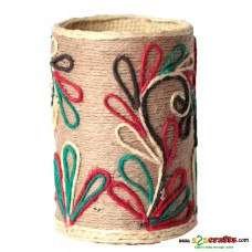 Eco friendly, Natural, Jute pen stand, round