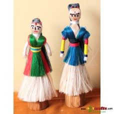 Eco friendly, Natural, Jute Standing Dolls