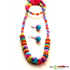 Kids jewelry 1- bright colorful elegant with bracelet and earrings