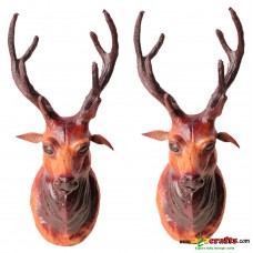 Leather Deer head , set of 2