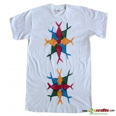 Unique cotton Tees Handpainted Patachitra art