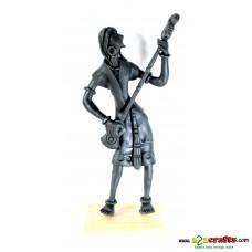 metal statues -- Guitarist