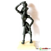 metal statues -- Carrying water pot