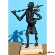 metal statues --Man with bucket