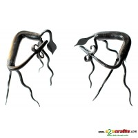 Bastar art --- set of 2 Deers