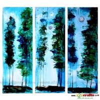 Painting- Blue night, set of 3