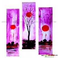 Raising Sun - Set of 3 painting