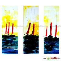 Sailing Boat - Set of 3 painting