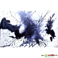 Abstract Charcoal Painting