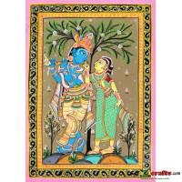 Radha Krishna, Hand painting, unframed,