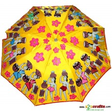 Patachitra Umbrella yellow